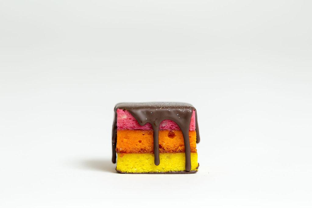 raspberry rainbow cookie